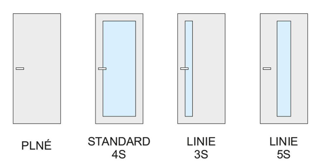 Možnosti provedení bezfalcových a reverzních dveří s obložkovou zárubní