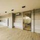 Posuvne dveře do stavebního pouzdra Belport v kombinaci s černým hliníkovým rámem