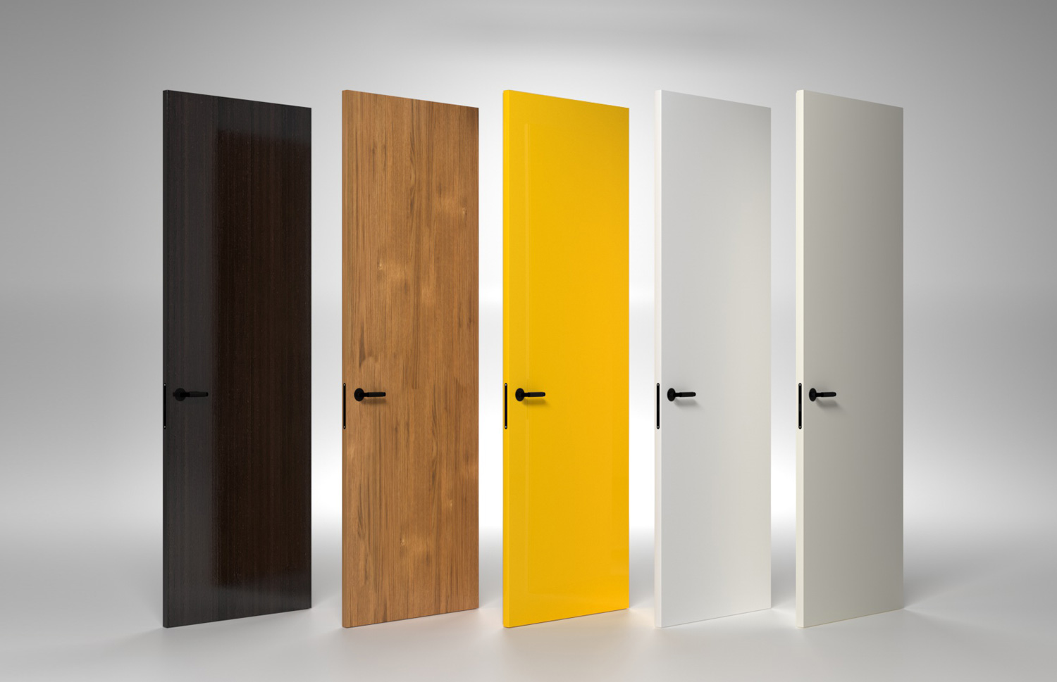 THE DOORS AND FRAMES ARE AVAILABLE IN RAL AND NCS COLOURS, NATURAL VENEERS.