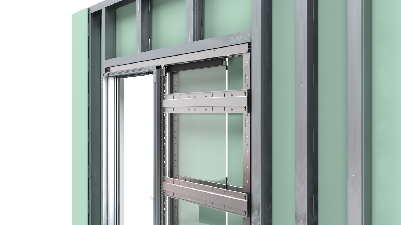 Konstrukce bezobložkových stavebních pouzder pro posuvné dveře