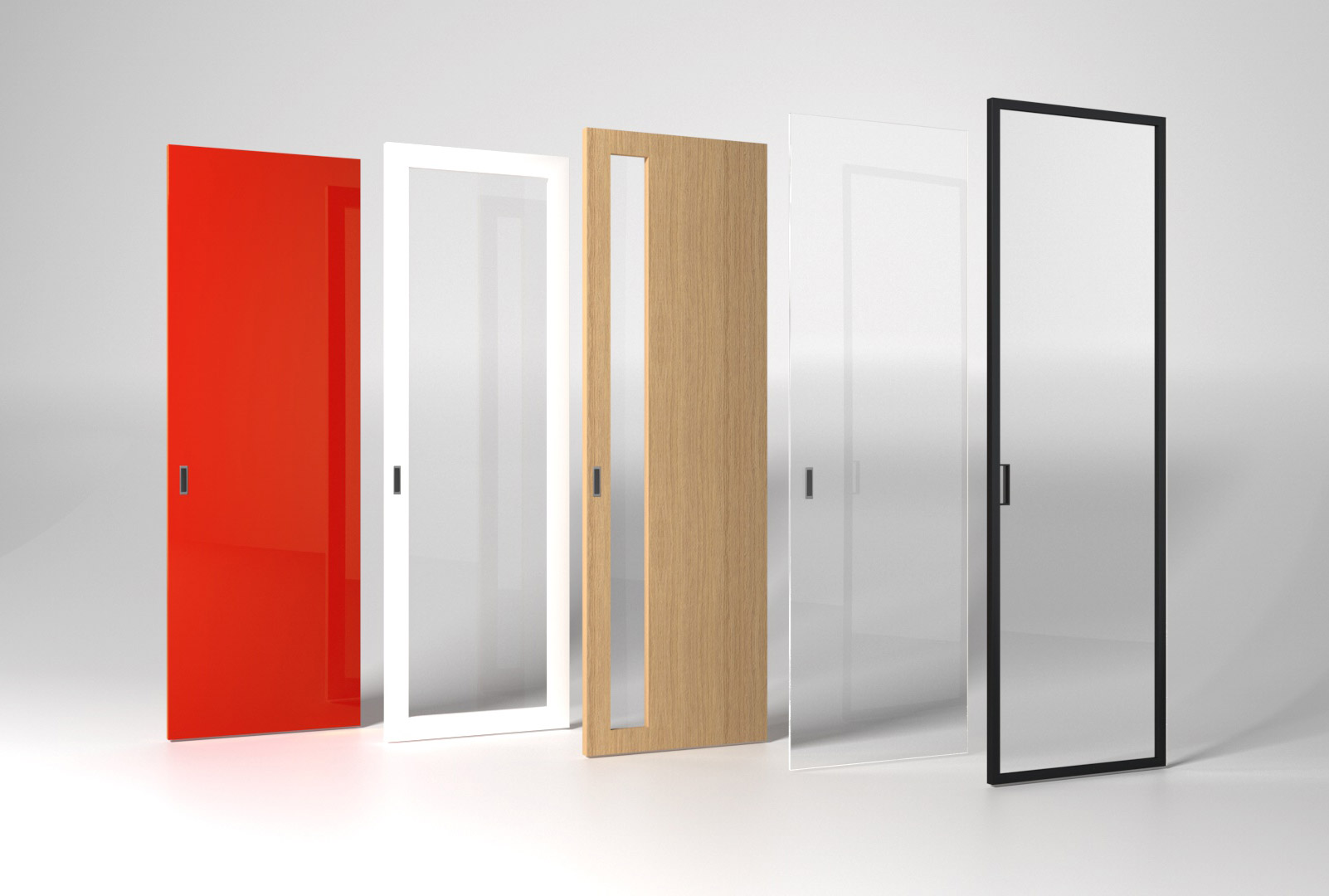 modelová řada posuvných dveří do bezobložkových stavebních pouzder