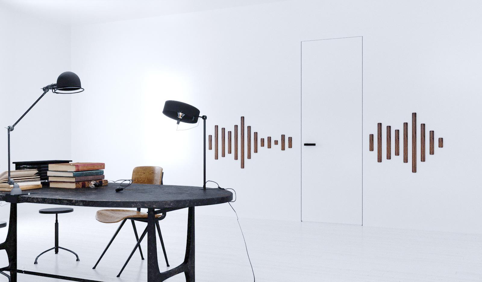 Akustické dveře do skryté zárubně FORTIUS 52