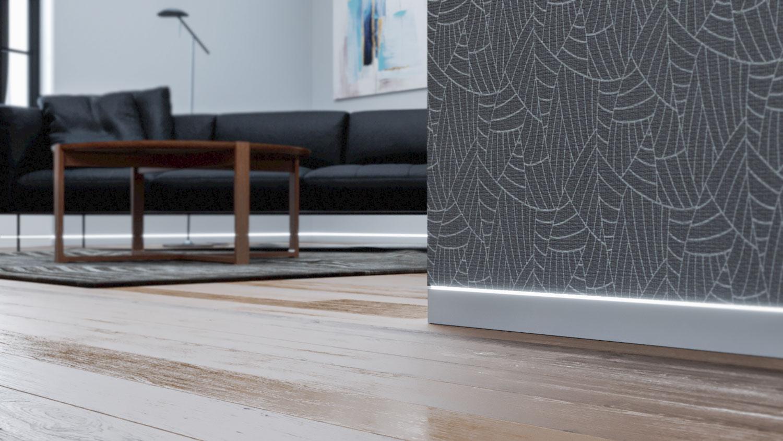 Linus skrytá podlahová lišta s LED páskem